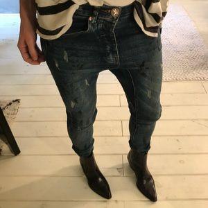 One Teaspoon drop crotch skinny jeans